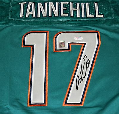 RYAN TANNEHILL Signed Miami Dolphins Jersey Autograph PSA /DNA  Size 52