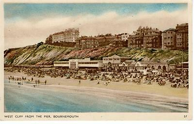 Dorset - West Cliff from the Pier, Bournemouth (Dearden & Wade)