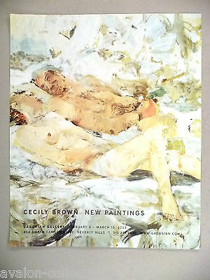 Cecily Brown Art Gallery Exhibit PRINT AD - 2003