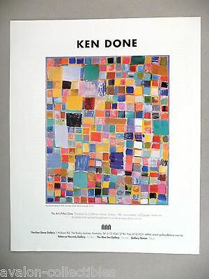 Ken Done Art Gallery Exhibit PRINT AD - 2003 ~~ Big Coloured Squares