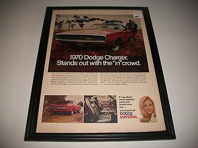 1970 Dodge Charger Original Vintage Print Ad   * Free Shipping Offer*