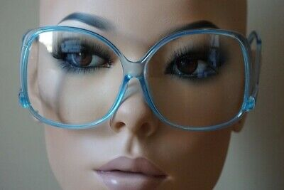 Oversized Vintage Glossy Jackie O Clear Lens Eye Sun GLASSES UPSIDE DOWN Frame