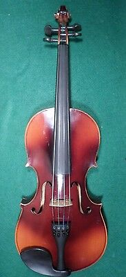 "OLD 16"" VIOLA --- Alfred Zapf w/ HARD SHELL CASE & BOW"