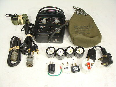 OP-177/U Special Forces Military AC to DC Power Converter Kit + Adapters & Bags!
