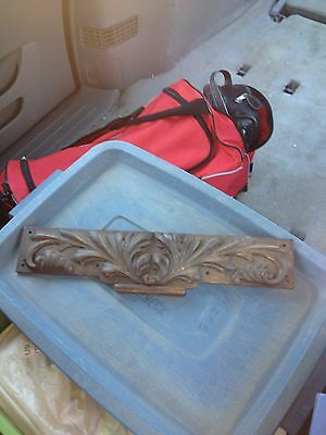"1920's 18 1/4"" Carved Wood Panel Pediment"