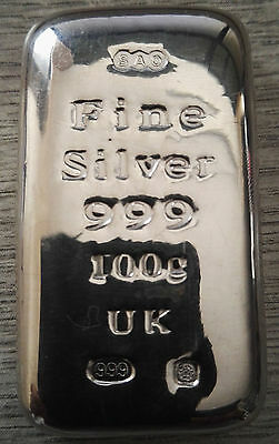 New 100 Gram Silver Bullion Bars 999 Purity Buy Now Before Prices Go Too High
