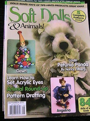 SOFT DOLLS & ANIMALS September 2010 cloth doll patterns~techniques~tips~magazine