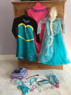 Ultimate Large Disney Store Frozen Bundle Complete Head To Toe Outfit And Extras