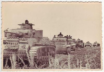 German Wwii Photo From Russian Archive: Panzer Iii Tanks On The Move