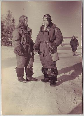 Russian Wwii Press Photo: Air Forces Pilots, Wintertime