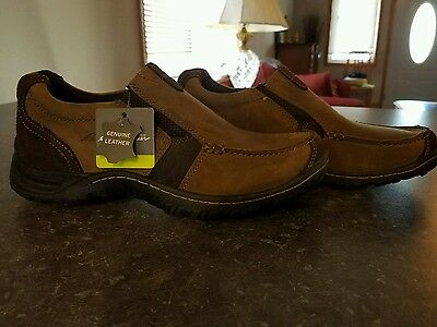 Mens Eddie Bauer Slip On Shoes Size 10 Leather New