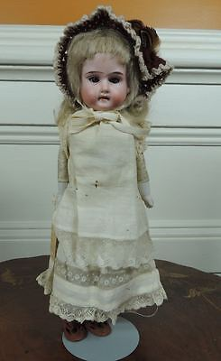 """Antique 11"""" Armand Marseille Bisque Shoulder Head Darling Doll Leather Body A/O"""