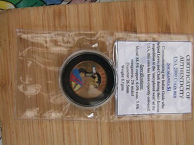USA 2000 coloured Sacagawea one dollar coin $1