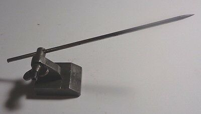 Vintage Machinist's-Toolmakers' Very Small Surface Gage,1-1/2 X 1-1/4 Unmarked.