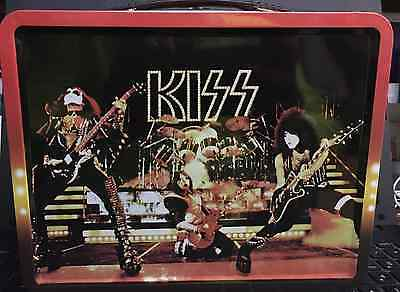 Kiss Alive Metal Collector Lunchbox Gene Simmons Ace Frehley Paul Stanley