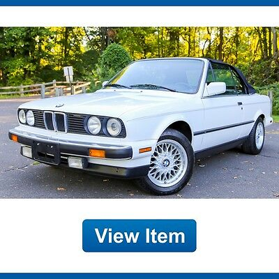 1989 BMW 3-Series Base Convertible 2-Door 1989 BMW 325ic Convertible 5SP Manual Sport California Car CARFAX Rare!