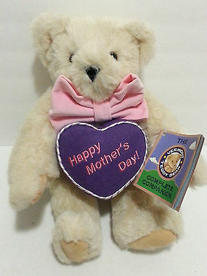 """NEW Vermont Teddy Bear HAPPY MOTHER'S DAY Plush 17"""" Bear Jointed NWT"""