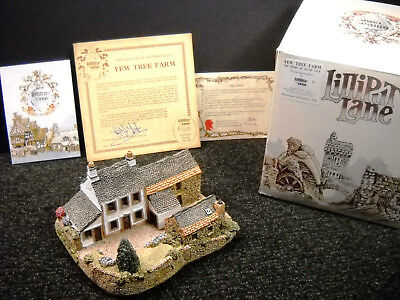 Lilliput Lane Yew Tree Farm Collectors Special For 1987/1988 NIB & Deeds Signed