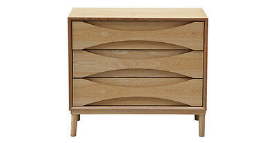 Arne Vodder Lowboy Dresser Single Retro Modern Cabinet, Ash Wood