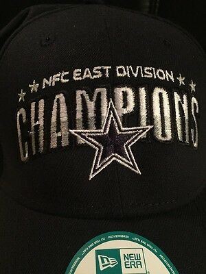 b733ffb6c84f3 NFL DALLAS COWBOYS NFC EAST CHAMPS SOLID Champions 9Forty New Era Cap Hat  2016