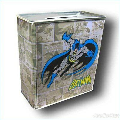 Dc Comics Batman Fighting Crime Comic Book Tin Money Bank