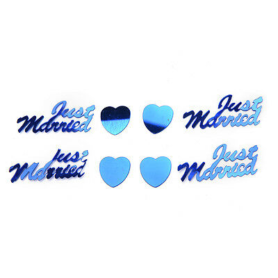 350 Pcs Just Married*Heart Metallic Table Confetti Wedding Decoration Sprinkles
