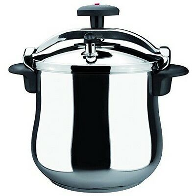 Magefesa 01OPSTABO06 Star B Stainless Steel 6 Qt. Fast Pressure Cooker NEW