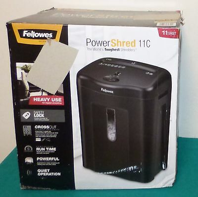 Fellowes Powershred 11C Cross-Cut 11-Sheet Paper Shredder