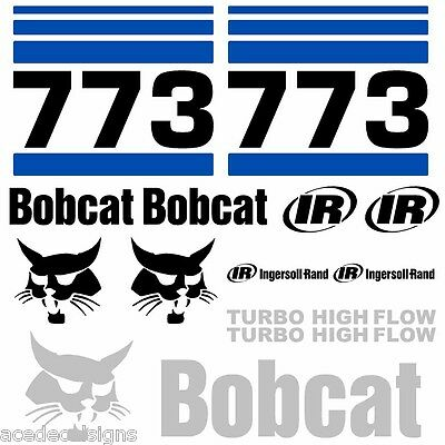 ANY MODEL Bobcat 773 DECALS Stickers Skid Steer loader New Repro decal Kit