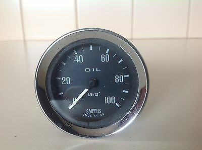 SMITHS OIL PRESSURE GAUGE suited to many vintage British cars