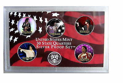 Michael Jackson - The Decades Indiana Colorized Quarters Coin Set