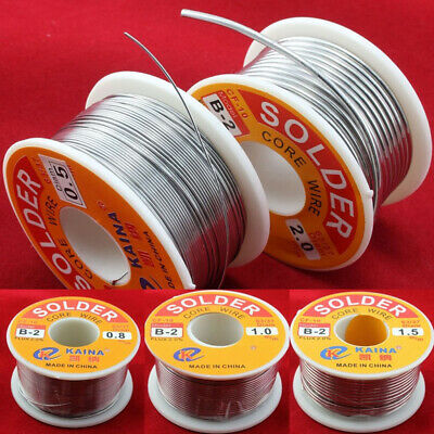 63/37 Rosin Core Solder Tin Lead Flux 2% Soldering Iron Wire 0.5 - 2.0mm 50/100g