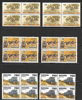 TANZANIA Very Nice Mint Never Hinged Blocks of 4 Selection (Dec 0416)