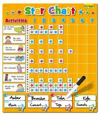 New Magnetic Star Chart / Reward Chart Fun Play Educational Toy ( Large)