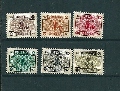 Commonwealth Malta Malte 1973 Postage Due Short Set/timbres Taxe Mnh/**