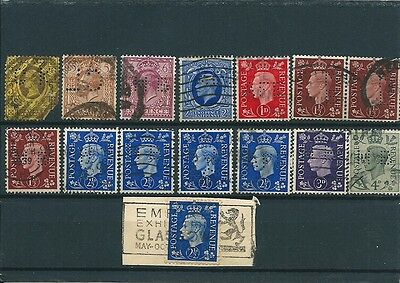 Great Britain / Grande Bretagne 14 Stamps Perfins / Perfores Scans Recto Verso