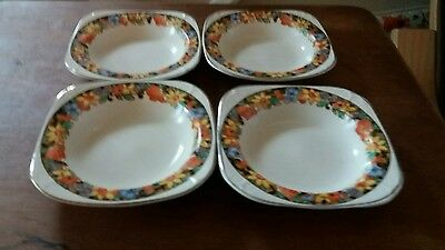 Four vintage dishes boels from 1930s. IVORY WARE.