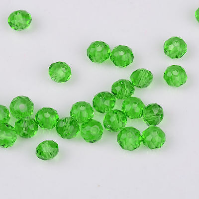 Green Faceted 500pcs Rondelle exquisite crystal 3x2mm Chinese Beads
