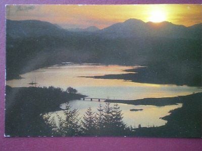 Postcard Inverness-Shire Loch Garry At Sunset