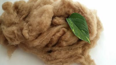 Mongolia Baby Camel Wool Fiber Fibre Carded Roving Spinning Brown FREE SHIPPING