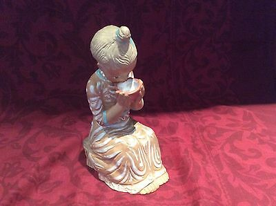 Kovacs Margit Painted Ceramic Of  23 Cms Girl Drinking Milk - Perfect Condition.