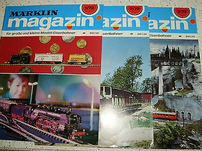 Marklin Magazine for 1972.  3 issues of possible 4. German Text. Excell. Cond.