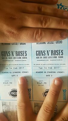 Guns n roses melbourne diamond GA sold out tickets