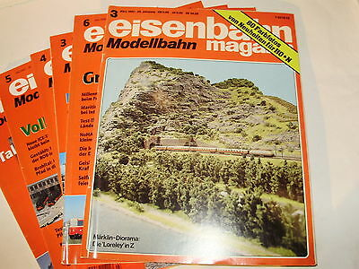 Eisenbahn Modelling magazine. Selection of 6 issues. German Text. Exc Cond.