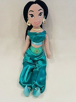 "Aladdin Princess JASMINE Soft Plush Toy Doll Figure 12"" disney store"