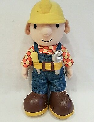 """Large Bob The Builder At Work Plush Soft Toy 14"""""""