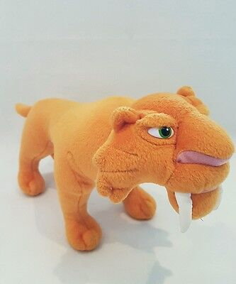 "Ice Age plush diago sabre tooth tiger Diago large soft toy 12"" ice age NEW RARE"