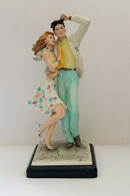 Capodimonte Style Figurines On Plinth Hand Crafted & Painted By VITTORIO TESSARO
