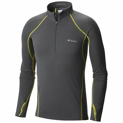 Sous vêtement Columbia Midweight Stretch Long Sleeve Top (graphite, Acid Yello