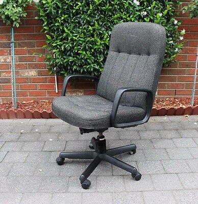 Large Home Office Desk Chair - Reclining, Height Adjustable
